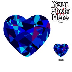 Blue broken glass Multi-purpose Cards (Heart)