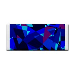 Blue broken glass Hand Towel