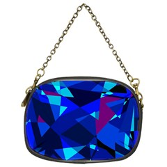 Blue broken glass Chain Purses (One Side)