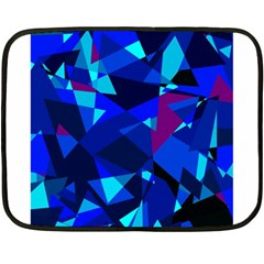 Blue broken glass Double Sided Fleece Blanket (Mini)
