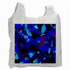 Blue broken glass Recycle Bag (One Side)