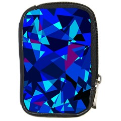 Blue broken glass Compact Camera Cases