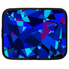 Blue broken glass Netbook Case (XXL)