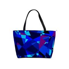 Blue broken glass Shoulder Handbags