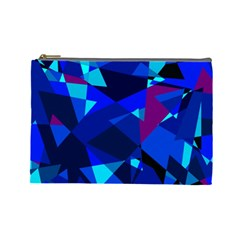 Blue broken glass Cosmetic Bag (Large)