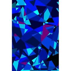 Blue broken glass 5.5  x 8.5  Notebooks