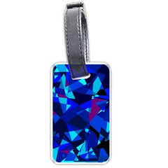 Blue broken glass Luggage Tags (One Side)