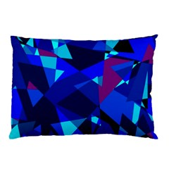 Blue broken glass Pillow Case (Two Sides)