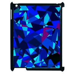 Blue broken glass Apple iPad 2 Case (Black)