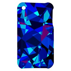 Blue broken glass Apple iPhone 3G/3GS Hardshell Case