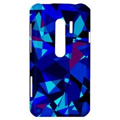 Blue broken glass HTC Evo 3D Hardshell Case