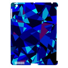 Blue broken glass Apple iPad 3/4 Hardshell Case (Compatible with Smart Cover)