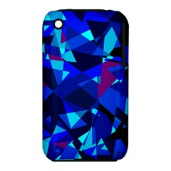 Blue broken glass Apple iPhone 3G/3GS Hardshell Case (PC+Silicone)