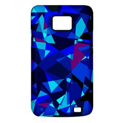 Blue broken glass Samsung Galaxy S II i9100 Hardshell Case (PC+Silicone)