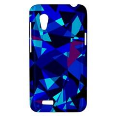 Blue broken glass HTC Desire VT (T328T) Hardshell Case