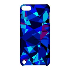 Blue broken glass Apple iPod Touch 5 Hardshell Case with Stand