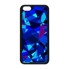 Blue broken glass Apple iPhone 5C Seamless Case (Black)