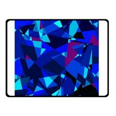 Blue broken glass Double Sided Fleece Blanket (Small)