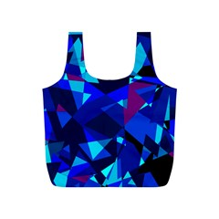 Blue broken glass Full Print Recycle Bags (S)