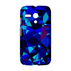 Blue broken glass Motorola Moto G