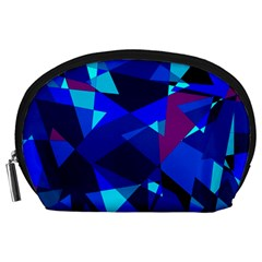 Blue broken glass Accessory Pouches (Large)