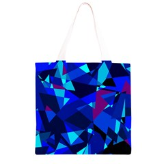 Blue broken glass Grocery Light Tote Bag