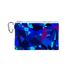 Blue broken glass Canvas Cosmetic Bag (S)
