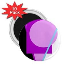 Purple geometric design 2.25  Magnets (10 pack)