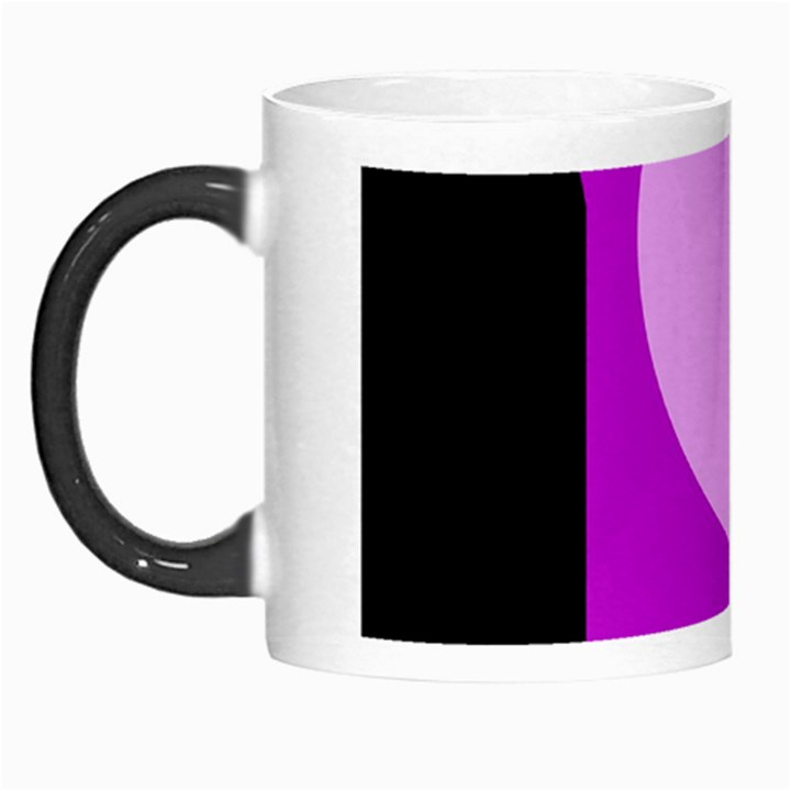 Purple geometric design Morph Mugs