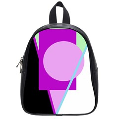 Purple geometric design School Bags (Small)