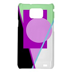 Purple geometric design Samsung Galaxy S2 i9100 Hardshell Case