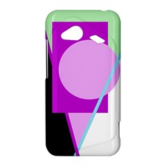 Purple geometric design HTC Droid Incredible 4G LTE Hardshell Case