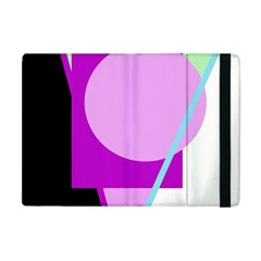 Purple geometric design Apple iPad Mini Flip Case