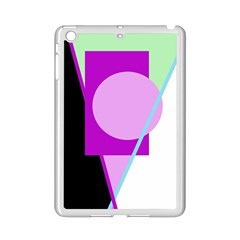Purple geometric design iPad Mini 2 Enamel Coated Cases