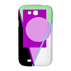 Purple geometric design Samsung Galaxy Grand GT-I9128 Hardshell Case