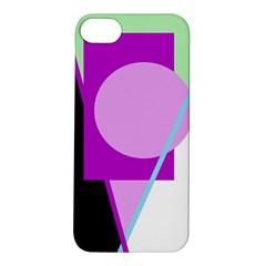 Purple geometric design Apple iPhone 5S/ SE Hardshell Case