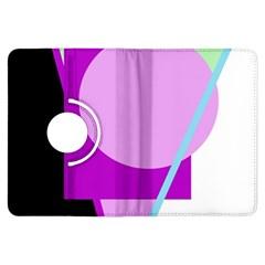 Purple geometric design Kindle Fire HDX Flip 360 Case