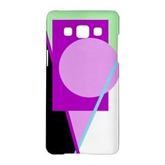 Purple geometric design Samsung Galaxy A5 Hardshell Case