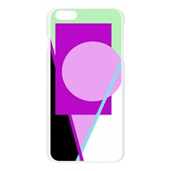 Purple geometric design Apple Seamless iPhone 6 Plus/6S Plus Case (Transparent)