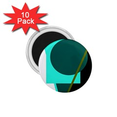 Geometric abstract design 1.75  Magnets (10 pack)