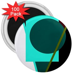 Geometric abstract design 3  Magnets (100 pack)