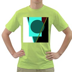 Geometric abstract design Green T-Shirt