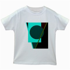 Geometric abstract design Kids White T-Shirts