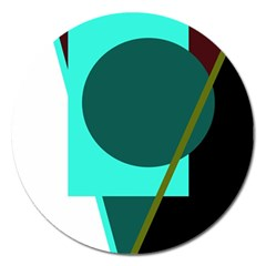 Geometric abstract design Magnet 5  (Round)
