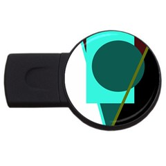 Geometric abstract design USB Flash Drive Round (1 GB)