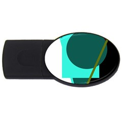 Geometric abstract design USB Flash Drive Oval (2 GB)
