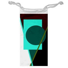 Geometric abstract design Jewelry Bags