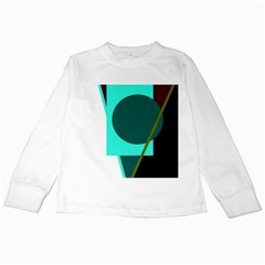 Geometric abstract design Kids Long Sleeve T-Shirts