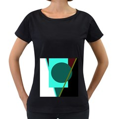 Geometric abstract design Women s Loose-Fit T-Shirt (Black)