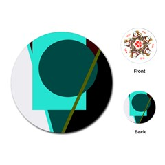 Geometric abstract design Playing Cards (Round)